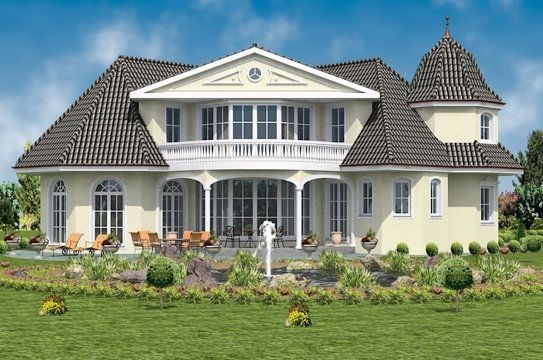 luxus fertighaus villa. Black Bedroom Furniture Sets. Home Design Ideas